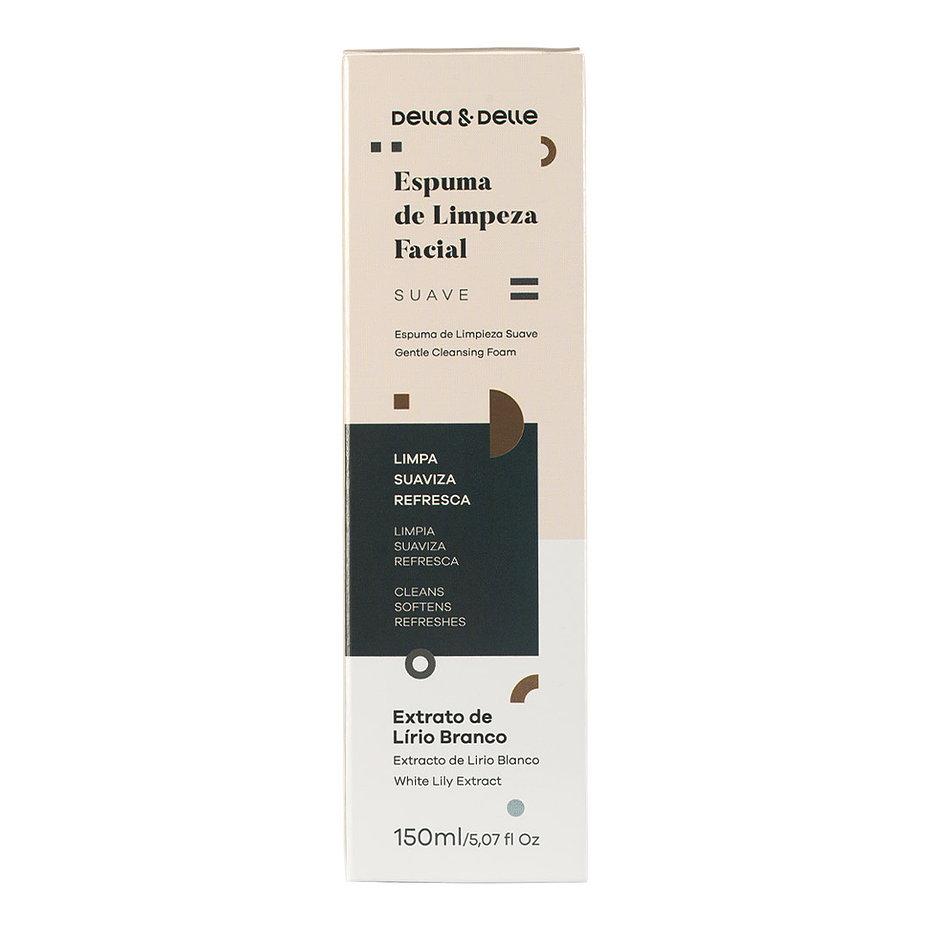 Mousse de Limpeza Facial Delle e Delle - 150 ml  - Tebori Nordeste