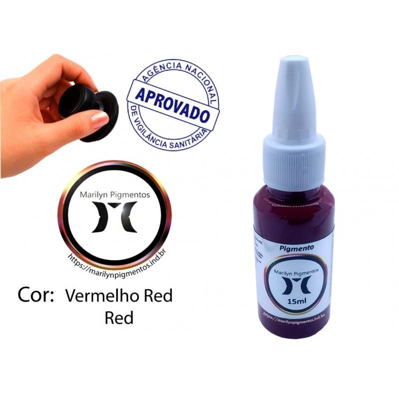 Pigmento Marilyn 15ml - Vermelho  - Tebori Nordeste