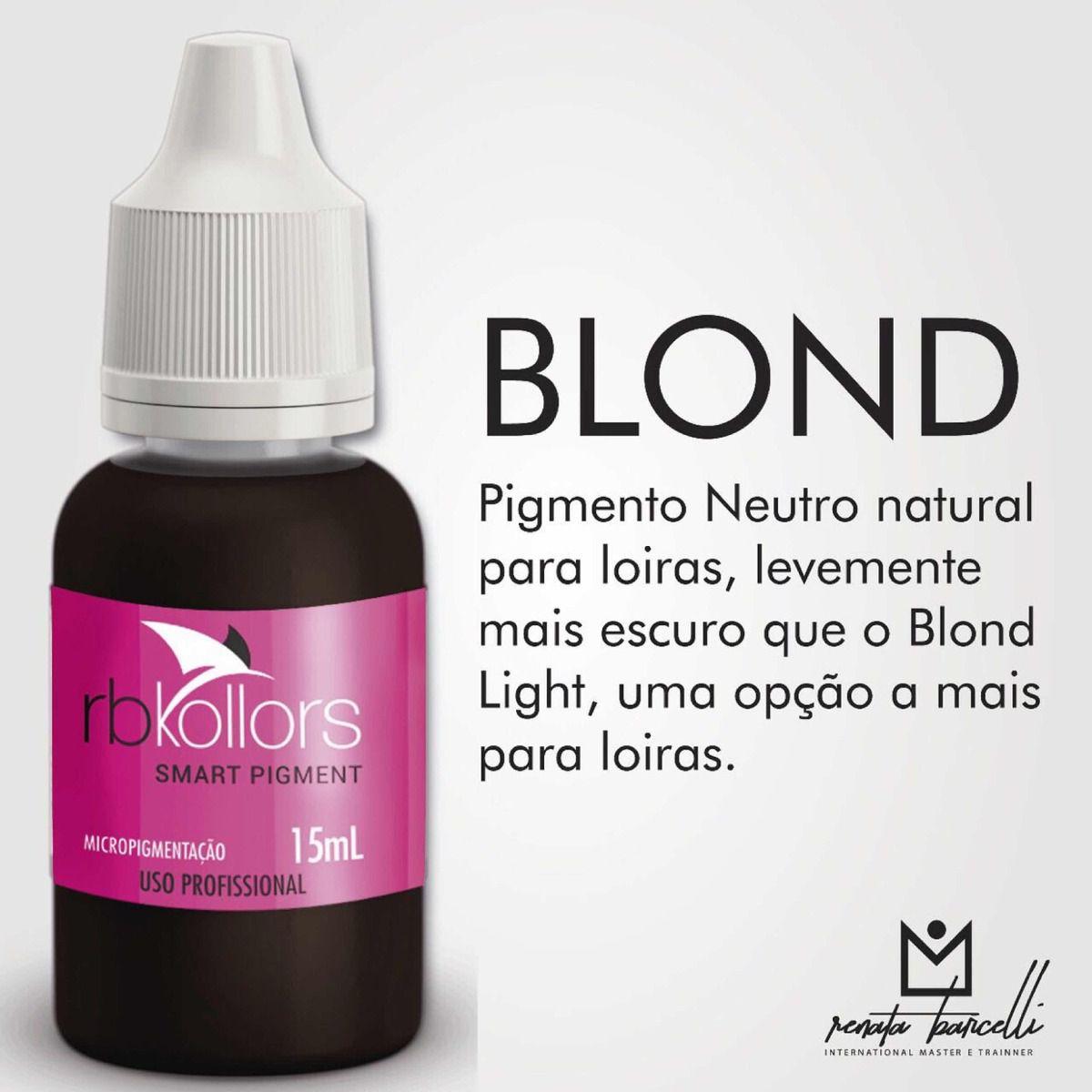 Pigmento orgânico RB Kollors 15 ml - Blond  - Tebori Nordeste