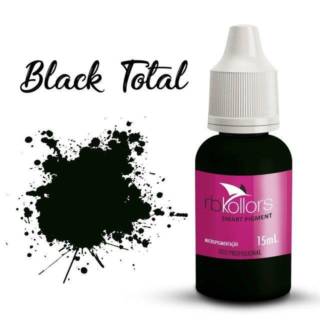 Pigmento orgânico RB Kollors 15 ml - Total Black  - Tebori Nordeste