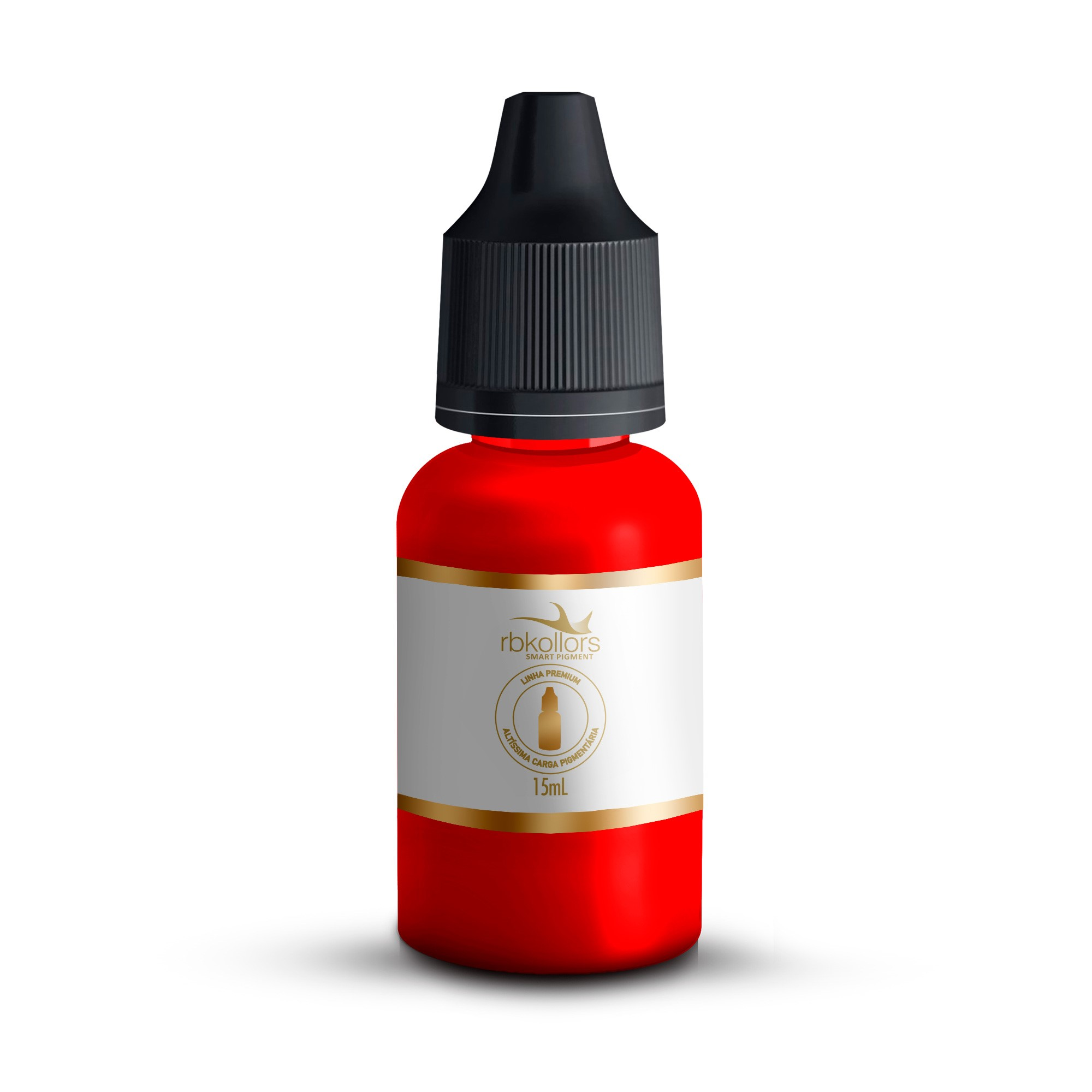 Pigmento Orgânico RB Kollors 15 ml - Vermelho Insano (Linha Premium)  - Tebori Nordeste