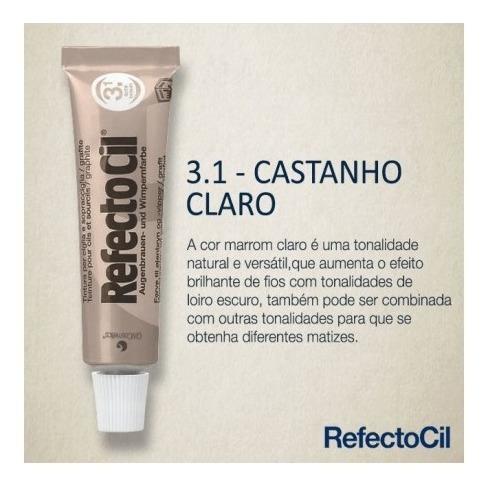RefectoCil Tintura para Sobrancelhas - Castanho Claro 3.1  - Tebori Nordeste