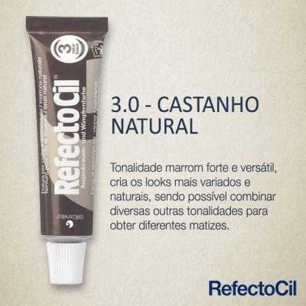 RefectoCil Tintura para Sobrancelhas - Castanho Natural 3.0  - Tebori Nordeste