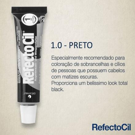 RefectoCil Tintura para Sobrancelhas - Preto 1.0  - Tebori Nordeste