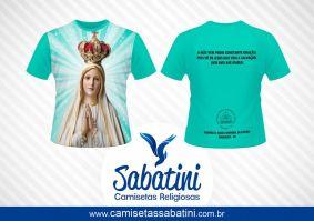 Camiseta Personalizada - NOSSA SENNHORA DE FATIMA - PARÓQUIA NOSSA SENHORA DE FÁTIMA - MARIALVA - ID:14279541