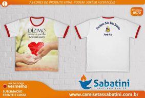 Camiseta Personalizada - PASTORAL DO DÍZIMO - PARÓQUIA SÃO JOÃO BATISTA\BA\ANAGÉ- ID13053094