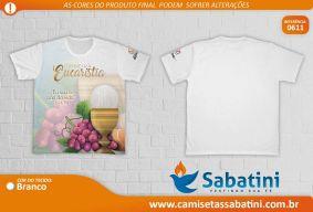 Camiseta Personalizada - REF.0611 - Primeira Eucaristia - Paróquia Santo Agostinho - ID15138478