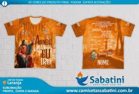 Camiseta Personalizada - Tribo Laranja - Acampamento Aonde Mandar eu Irei - Camapua - MS - ID14674170