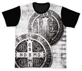 Camiseta REF.0225 - A Cruz Sagrada - São Bento