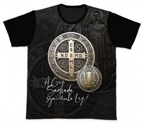 Camiseta REF.0247 - A Cruz Sagrada - São Bento
