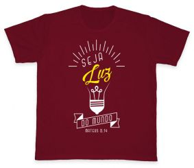 Camiseta REF.5004-3 - Seja Luz do mundo - Mateus 5,14