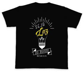 Camiseta REF.504-4 - Seja Luz do mundo - Mateus 5,14