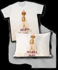 Kit - Camiseta + Fronha - REF.0101 - Nossa Senhora de Fátima