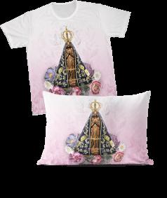 Kit - Camiseta + Fronha - REF.0165 - Nossa Senhora Aparecida