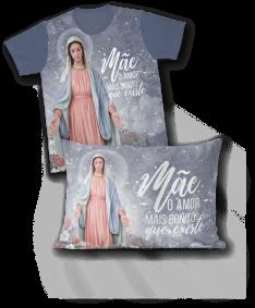 Kit - Camiseta + Fronha - REF.0255 - Nossa Senhora Das Graças