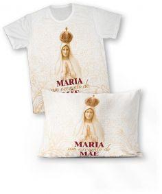 Kit: camiseta e fronha REF.0101 - Nossa Senhora de Fátima