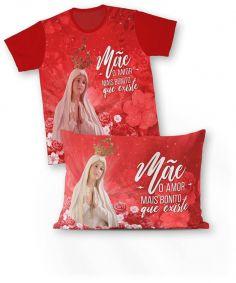 Kit: camiseta e fronha REF.0105 - Nossa Senhora de Fátima