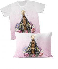 Kit: camiseta e fronha REF.0165 - Nossa Senhora Aparecida