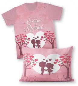 Kit - Camiseta + Fronha - Ref.0191 - Faça do meu Coração tua Morada
