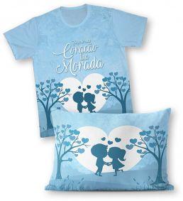 Kit - Camiseta + Fronha - Ref.0192 - Faça do meu Coração tua Morada
