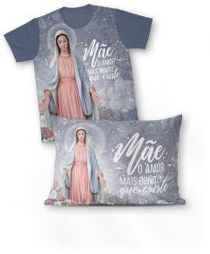 Kit: camiseta e fronha REF.0255 - Nossa Senhora Das Graças