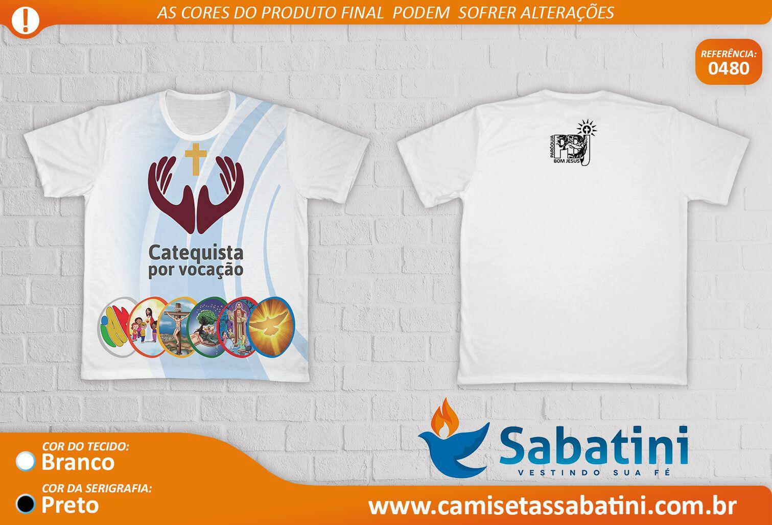 Camiseta Personalizada - CATEQUISTA - DOURADOS - MS - ID:14749109  - Camisetas Sabatini