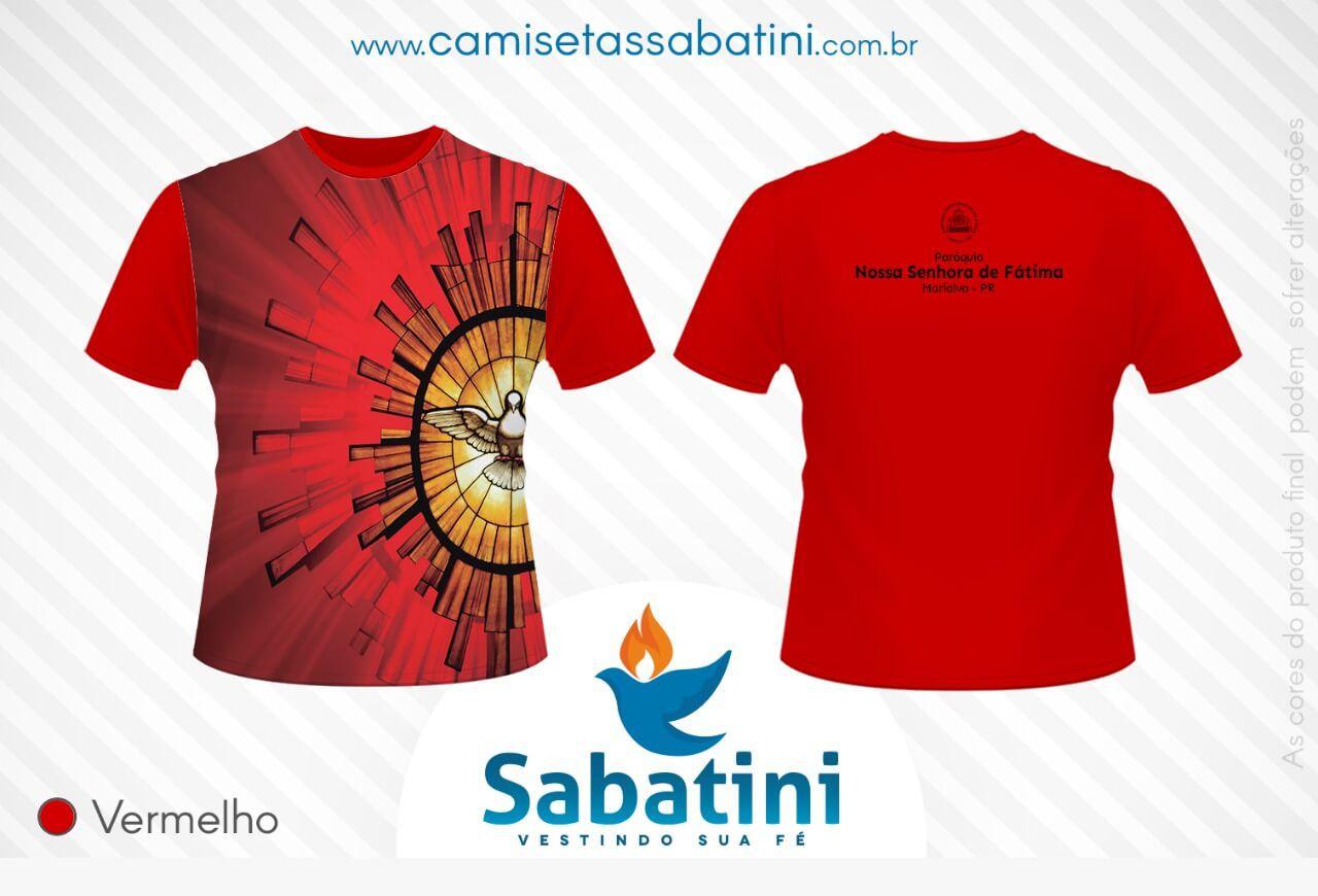 Camiseta Personalizada - CRISMA - VERMELHA - PARÓQUIA NOSSA SENHORA DE FATIMA - MARIALVA - PR - ID:14279541  - Camisetas Sabatini