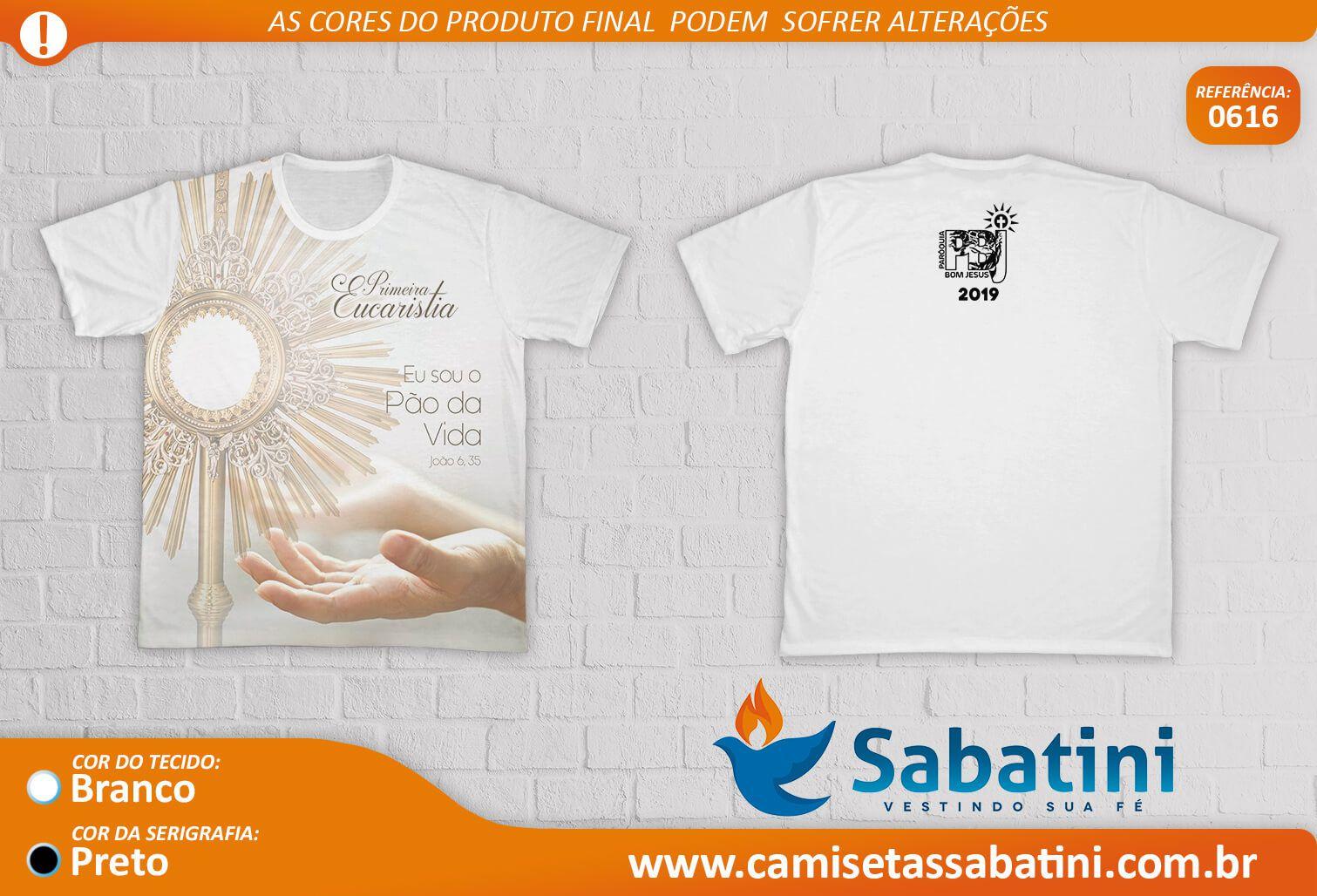 Camiseta Personalizada - EUCARISTIA- DOURADOS - MS - ID:14749109  - Camisetas Sabatini