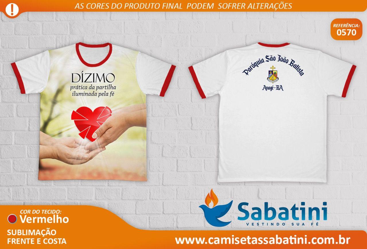 Camiseta Personalizada - PASTORAL DO DÍZIMO - PARÓQUIA SÃO JOÃO BATISTA\BA\ANAGÉ- ID13053094  - Camisetas Sabatini