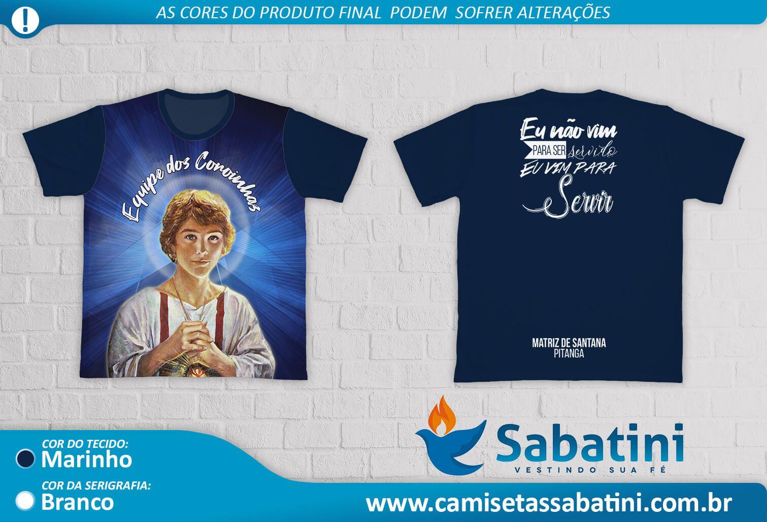 Camiseta Personalizada - PASTORAL DOS COROINHAS - MATRIZ DE SANTANA\PR\PITANGA- ID13994914  - Camisetas Sabatini