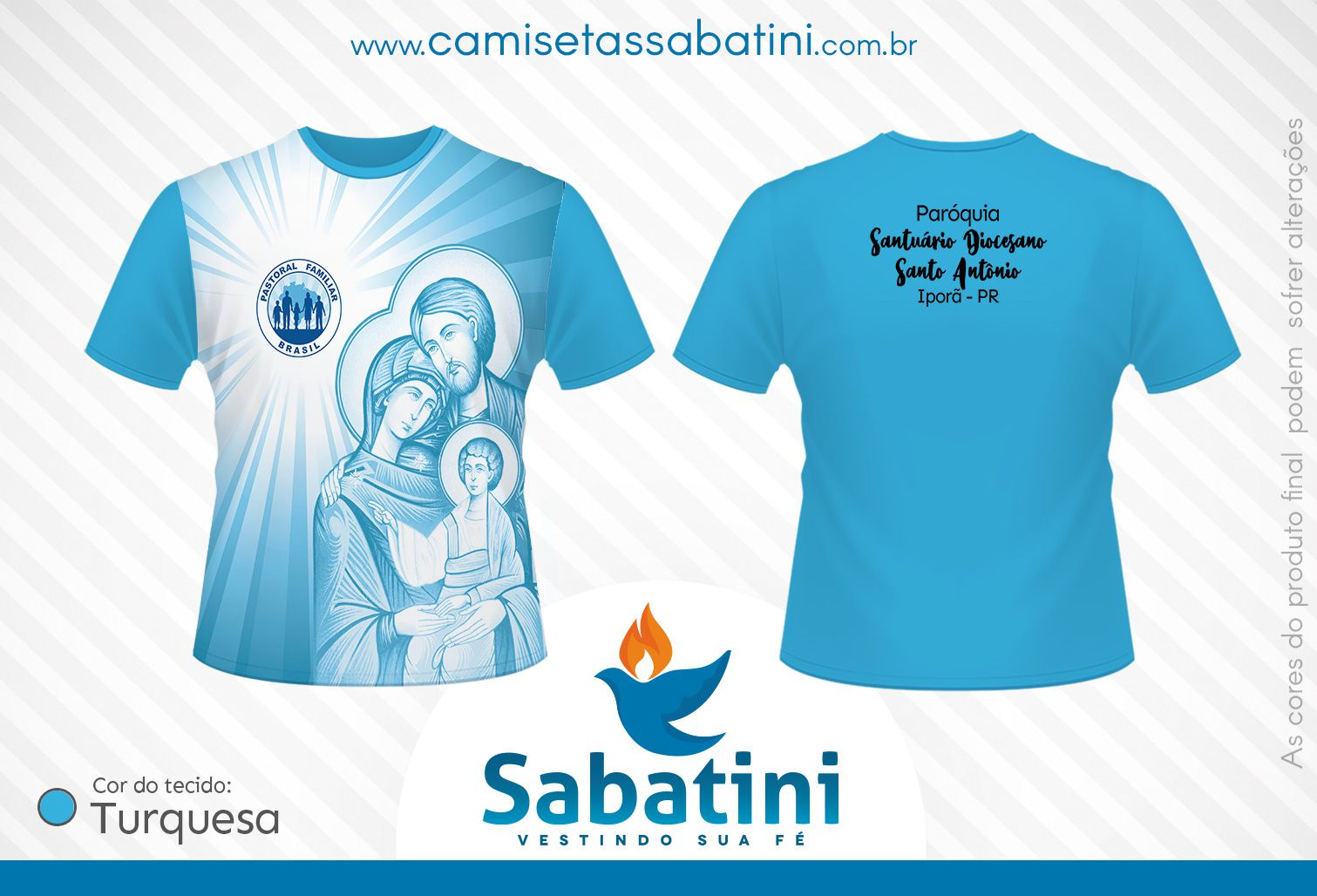Camiseta Personalizada - Pastoral Familiar - Paróquia Santo Antônio - Iporã - PR - ID15400451  - Camisetas Sabatini