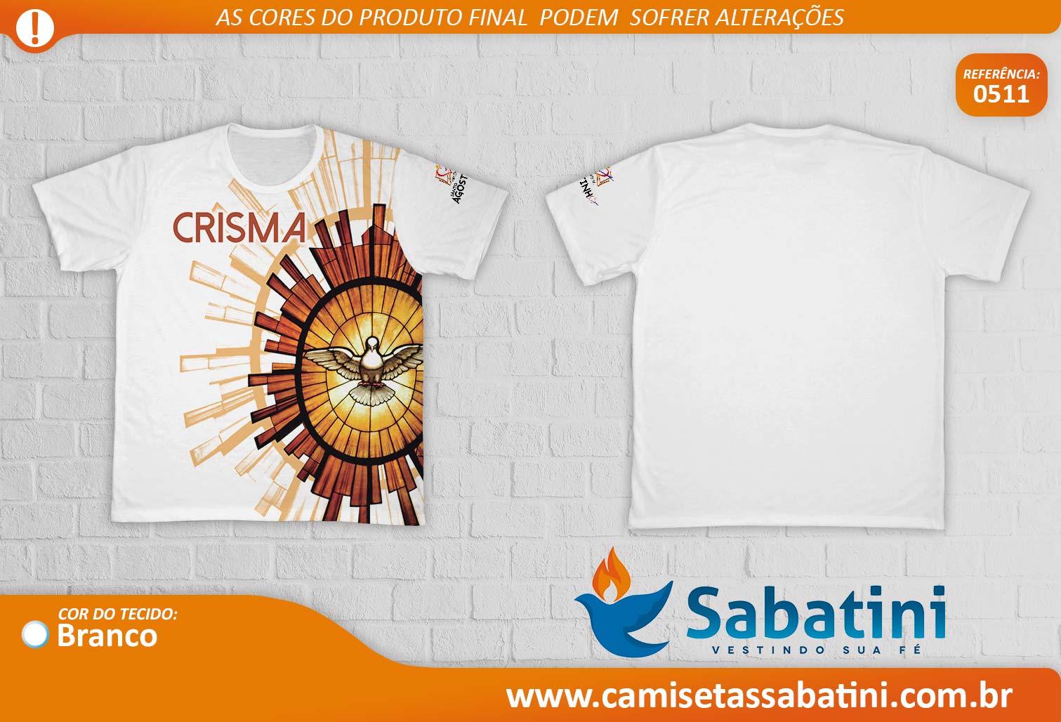 Camiseta Personalizada - REF.0511 Crisma - Paróquia Santo Agostinho - ID15138478  - Camisetas Sabatini