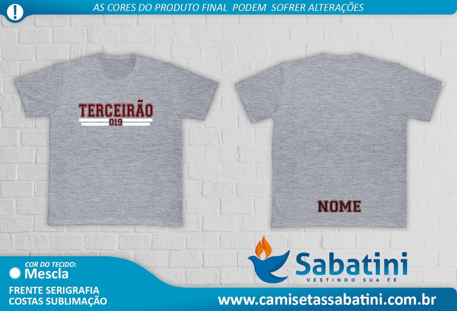 Camiseta Personalizada -TERCEIRÃO - IPORÃ  - PR- ID:13712772  - Camisetas Sabatini