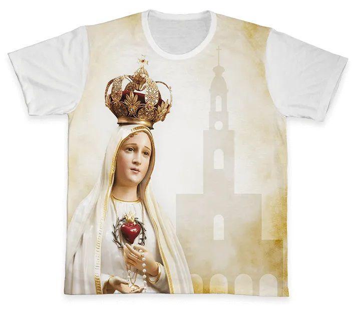 Camiseta REF.0104 - Nossa Senhora de Fátima  - Camisetas Sabatini