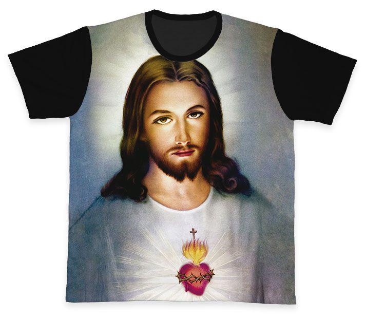 Camiseta REF.0113 - Sagrado Coração de Jesus  - Camisetas Sabatini