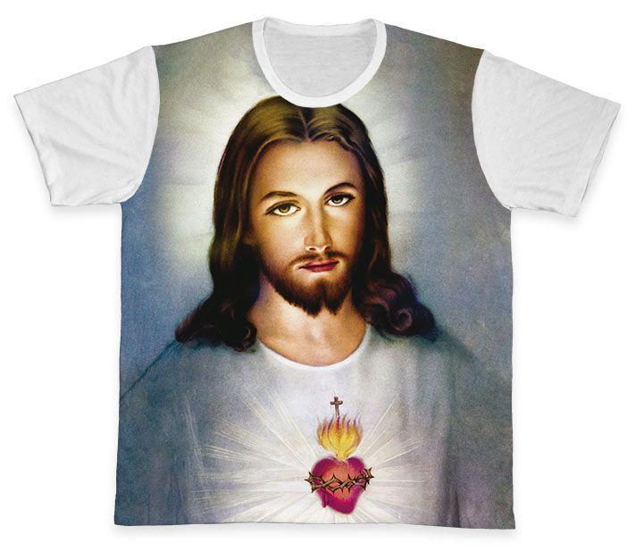Camiseta REF.0114 - Sagrado Coração de Jesus  - Camisetas Sabatini