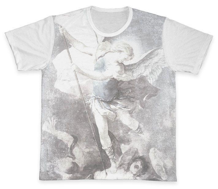 Camiseta REF.0118 - São Miguel Arcanjo  - Camisetas Sabatini