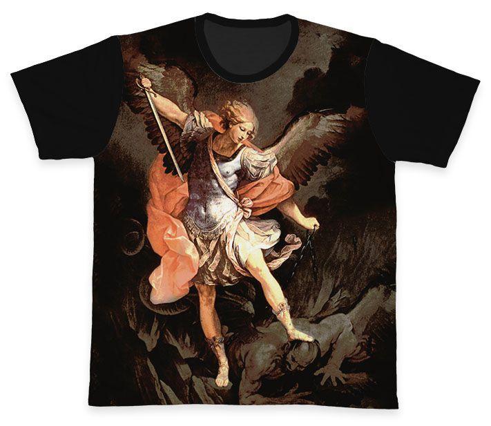 Camiseta REF.0130 - São Miguel Arcanjo  - Camisetas Sabatini