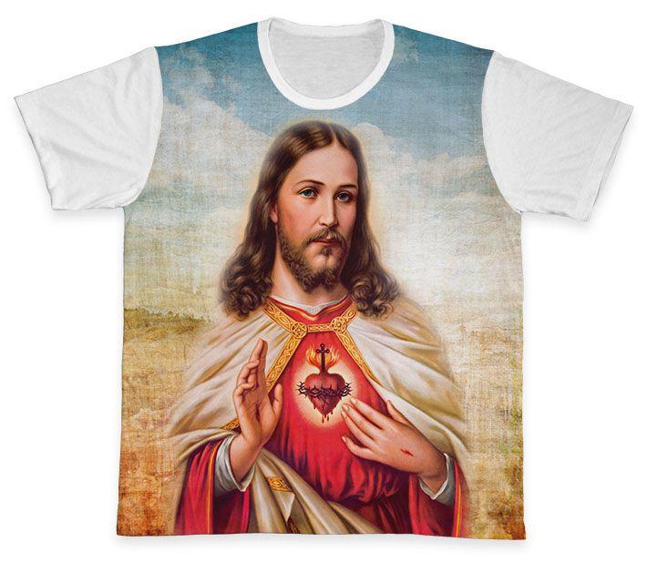 Camiseta REF.0141 - Sagrado Coração de Jesus  - Camisetas Sabatini