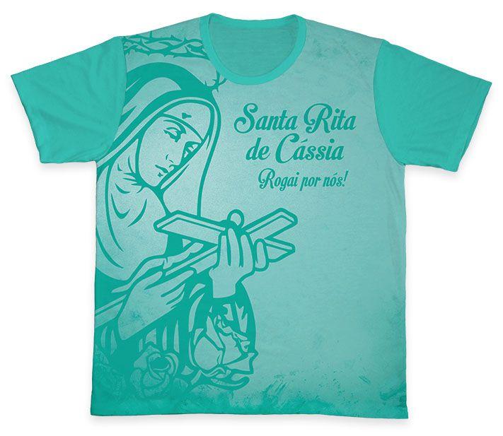 Camiseta REF.0155 - Santa Rita de Cássia  - Camisetas Sabatini