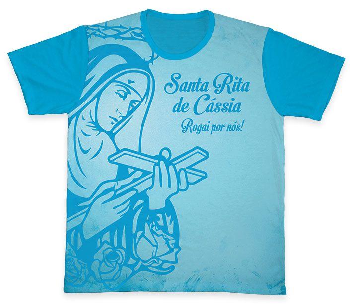 Camiseta REF.0156 - Santa Rita de Cássia  - Camisetas Sabatini