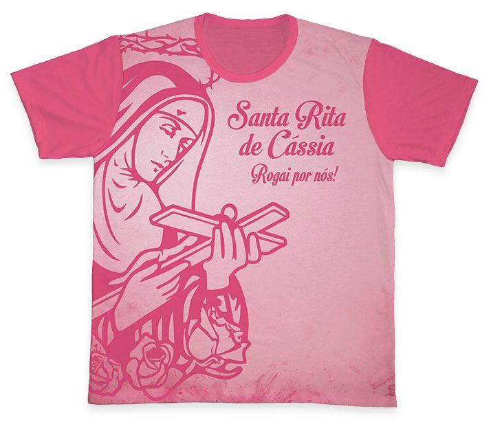 Camiseta REF.0157 - Santa Rita de Cássia  - Camisetas Sabatini