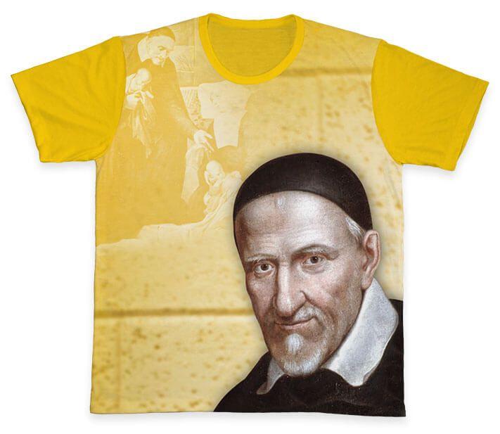 Camiseta REF.0159 - São Vicente de Paulo  - Camisetas Sabatini