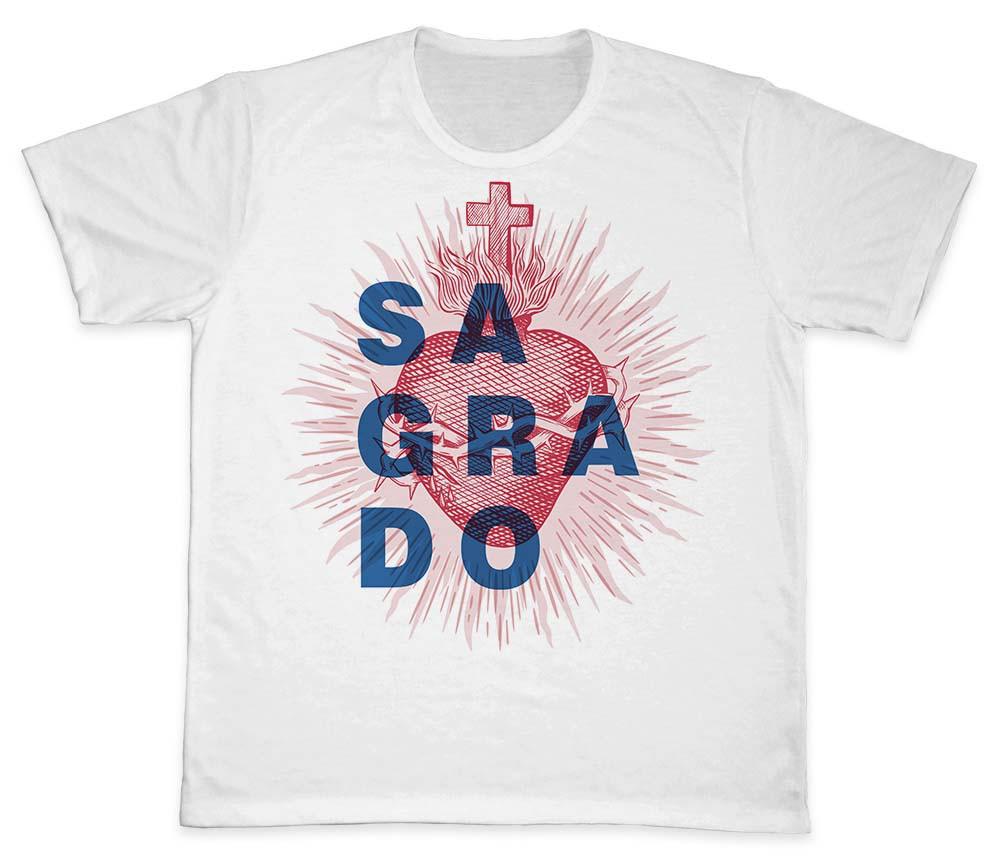 Camiseta Ref. 0177 - Sagrado Coração de Jesus
