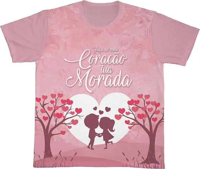Camiseta REF.0191 - Faça do meu Coração tua Morada  - Camisetas Sabatini