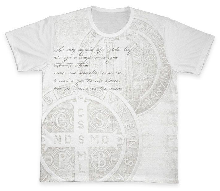Camiseta REF.0203 - A Cruz Sagrada - São Bento  - Camisetas Sabatini