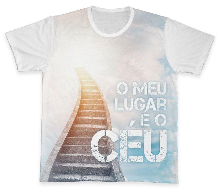 Camiseta REF.0219 - O Meu Lugar é o Céu  - Camisetas Sabatini
