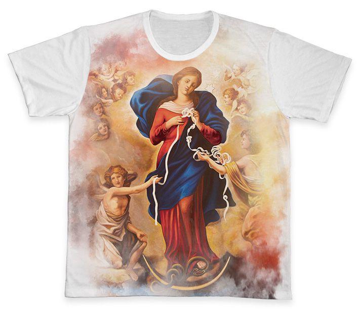 Camiseta Ref. 0231 - Nossa Senhora Desatadora dos Nós  - Camisetas Sabatini