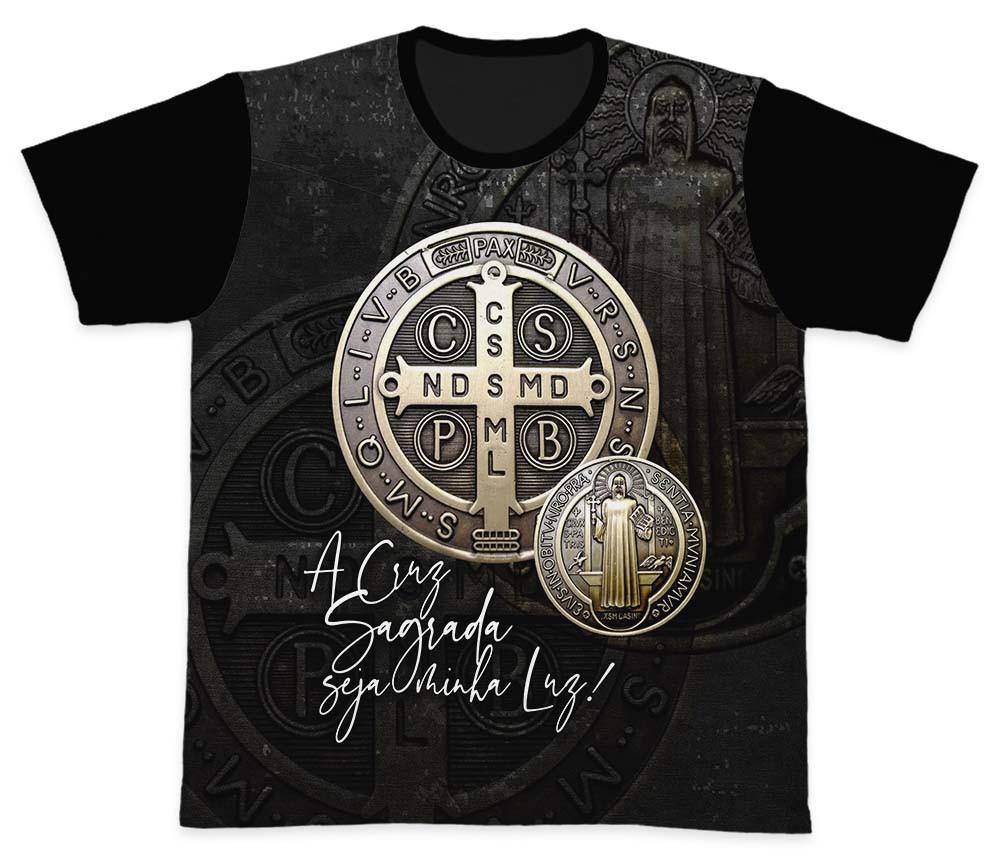 Camiseta Ref. 0247 - A Cruz Sagrada - São Bento