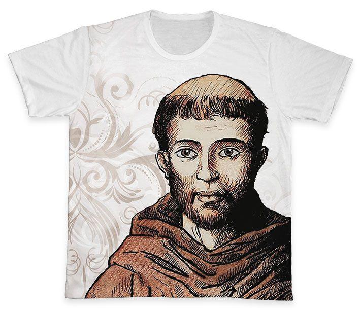 Camiseta REF.0257 - São Francisco de Assis  - Camisetas Sabatini